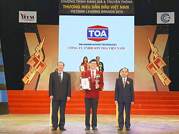 "TOA PAINT VIETNAM CO., LTD PROUDLY RECEIVES ""TOP 10  VIETNAM LEADING BRAND"" 2019 AWARD"