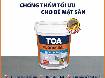 TOA FLOORSEAL </br> THE PREEMINENT SOLUTION FOR FLOOR WATERPROOFING