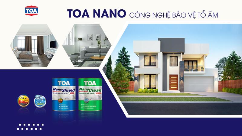 Cặp đôi sơn nước cao cấp TOA NanoShield và TOA NanoClean