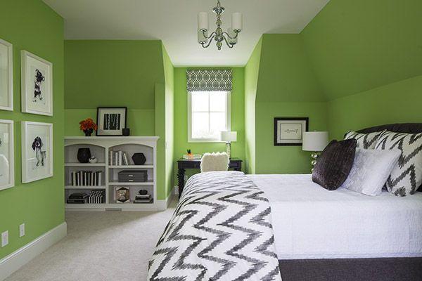 Chọn màu sơn màu xanh lá cho căn phòng vào mùa hè