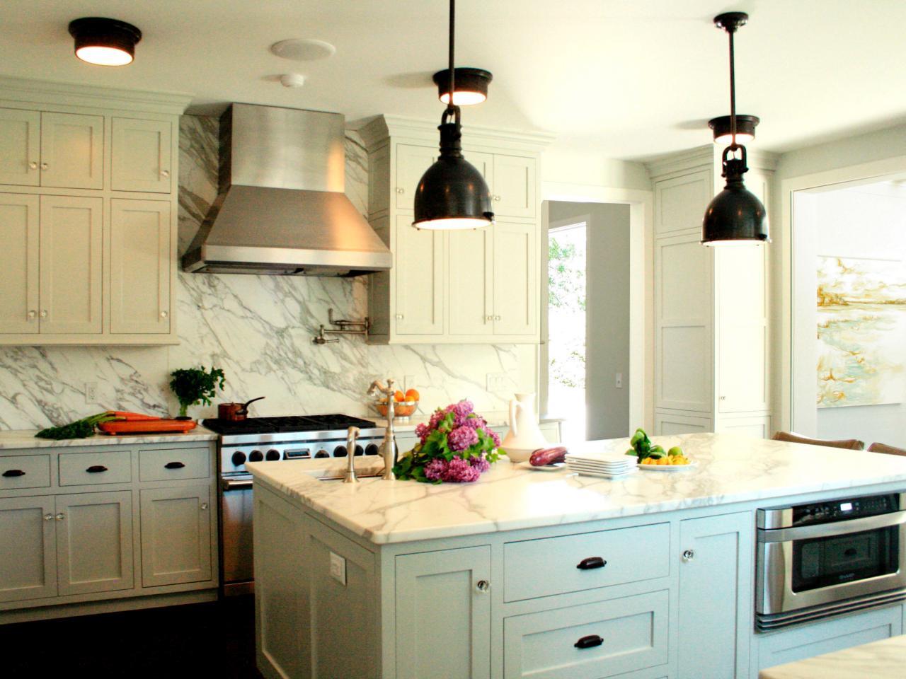 lắp đặt đèn hợp lý cho nhà bếp đẹp